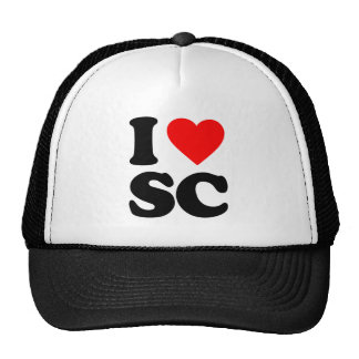 I LOVE SC TRUCKER HAT