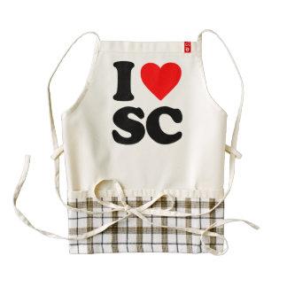 I LOVE SC ZAZZLE HEART APRON