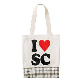 I LOVE SC ZAZZLE HEART TOTE BAG
