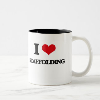 I Love Scaffolding Two-Tone Coffee Mug