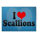 I Love Scallions Greeting Card