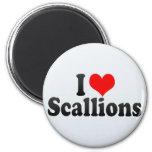 I Love Scallions Magnet