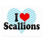 I Love Scallions Post Cards