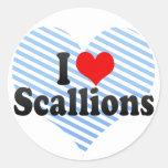 I Love Scallions Stickers