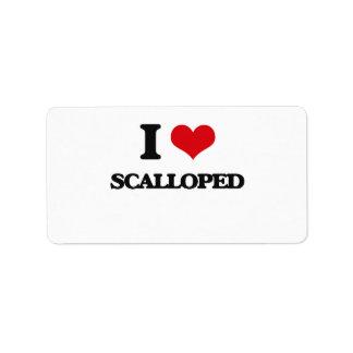 I Love Scalloped Address Label