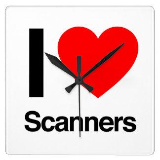 i love scanners wall clock