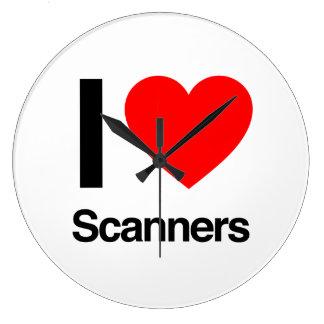i love scanners wallclock