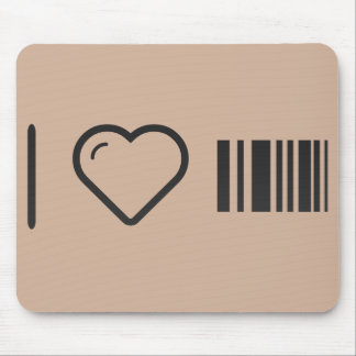 I Love Scanning Barcodes Mouse Pad