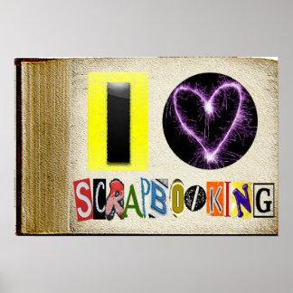 I Love Scapbooking Frame Poster