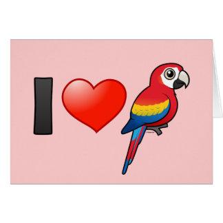 I Love Scarlet Macaws Card