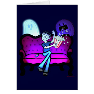 I Love Scary Movies Greeting Card