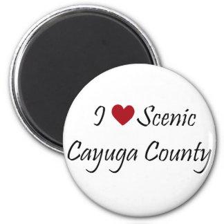 I Love Scenic Cayuga County Refrigerator Magnets
