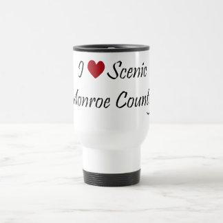 I Love Scenic Monroe County Travel Mug