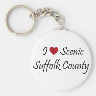 I Love Scenic Suffolk County Keychains
