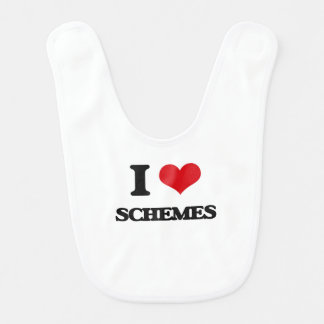 I Love Schemes Baby Bib