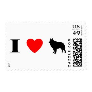 I Love Schipperkes Stamps