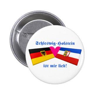 I Love Schleswig-Holstein ist mir lieb 2 Inch Round Button