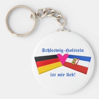 I Love Schleswig-Holstein ist mir lieb Basic Round Button Keychain