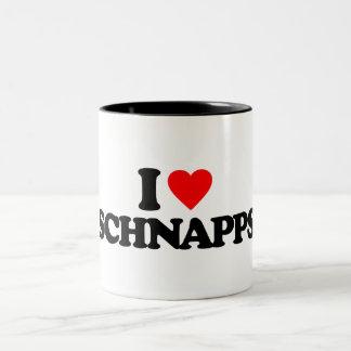 I LOVE SCHNAPPS Two-Tone COFFEE MUG
