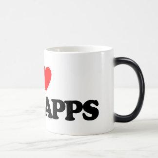 I LOVE SCHNAPPS 11 OZ MAGIC HEAT Color-Changing COFFEE MUG