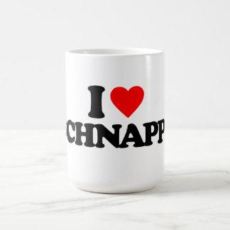 I LOVE SCHNAPPS CLASSIC WHITE COFFEE MUG