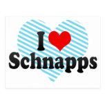 I Love Schnapps Postcard