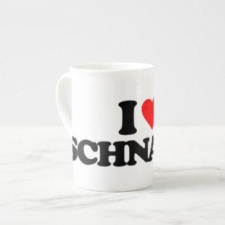I LOVE SCHNAPPS TEA CUP