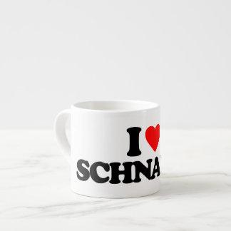 I LOVE SCHNAPPS 6 OZ CERAMIC ESPRESSO CUP