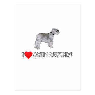 I Love Schnauzers Postcard