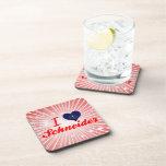 I Love Schneider, Indiana Beverage Coasters