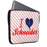 I Love Schneider, Indiana Laptop Computer Sleeve