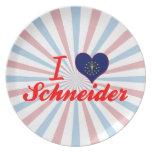 I Love Schneider, Indiana Party Plates