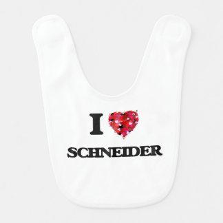I Love Schneider Baby Bibs