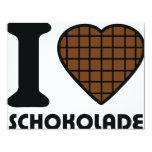 I love Schokolade icon 4.25x5.5 Paper Invitation Card