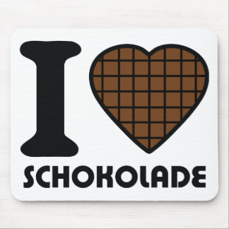 I love Schokolade icon Mouse Pad
