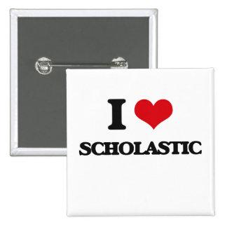 I Love Scholastic 2 Inch Square Button
