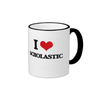 I Love Scholastic Ringer Mug