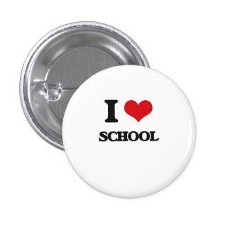I Love School 1 Inch Round Button