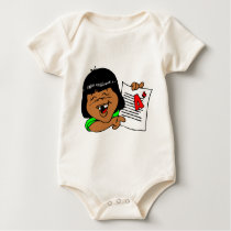 I love school! baby bodysuit