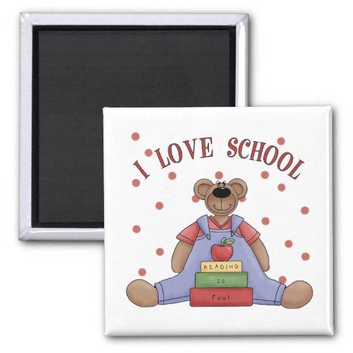 I Love School Bear Magnet