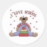 I Love School Bear Stickers