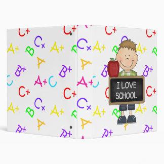I Love School Boy Student Binder