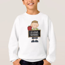 I Love School Boy Student Sweatshirt