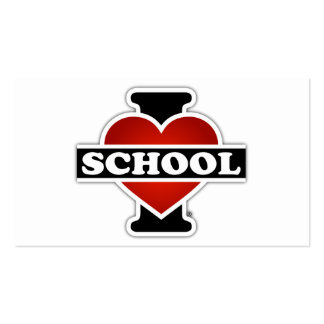I Love School Double-Sided Standard Business Cards (Pack Of 100)