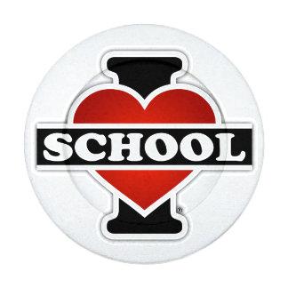 I Love School Button Covers