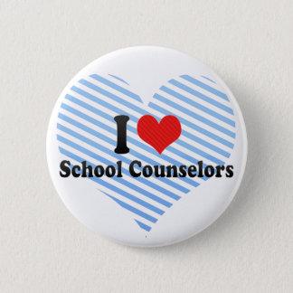 I Love School Counselors Pinback Button