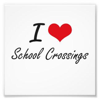 I Love School Crossings Photo Print