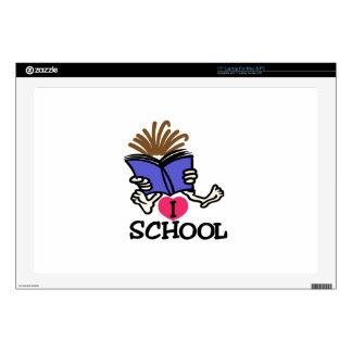 "I Love School Decals For 17"" Laptops"