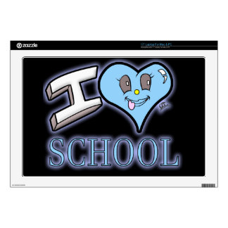 "I Love School Design for Learners and Educators 17"" Laptop Skin"
