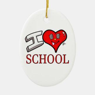 I Love School Design for Learners and Educators Ceramic Ornament
